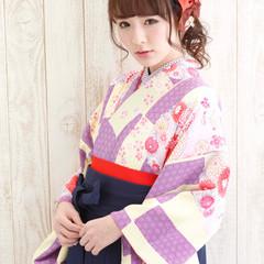 サイドアップ ヘアアレンジ 袴 着物 ヘアスタイルや髪型の写真・画像
