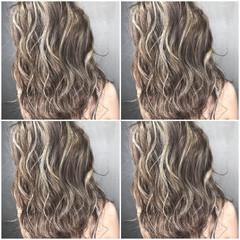 ブリーチ アウトドア グラデーションカラー ロング ヘアスタイルや髪型の写真・画像