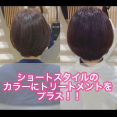 髪質改善 ナチュラル ショートヘア ミニボブ ヘアスタイルや髪型の写真・画像