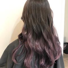 ラベンダーアッシュ ラベンダーピンク エレガント ラベンダー ヘアスタイルや髪型の写真・画像