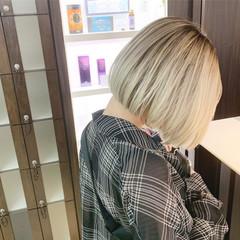 ブリーチカラー モード ハイトーンカラー ブリーチ ヘアスタイルや髪型の写真・画像