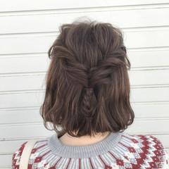 ヘアアレンジ ストリート 編み込み 簡単ヘアアレンジ ヘアスタイルや髪型の写真・画像