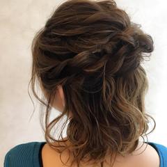 ゆるふわ ヘアアレンジ フェミニン 巻き髪 ヘアスタイルや髪型の写真・画像