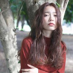 外国人風カラー ナチュラル 大人かわいい ロング ヘアスタイルや髪型の写真・画像