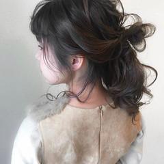 簡単ヘアアレンジ デート ヘアアレンジ ナチュラル ヘアスタイルや髪型の写真・画像