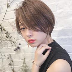 黒髪 ナチュラル ショート デート ヘアスタイルや髪型の写真・画像