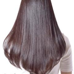 デート ロング ストレート 冬 ヘアスタイルや髪型の写真・画像