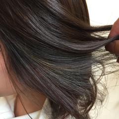 アッシュ ミディアム ストリート 暗髪 ヘアスタイルや髪型の写真・画像