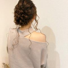 ヘアアレンジ ロング ヘアセット フェミニン ヘアスタイルや髪型の写真・画像