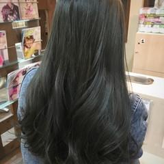 外国人風 ロング マット グレージュ ヘアスタイルや髪型の写真・画像