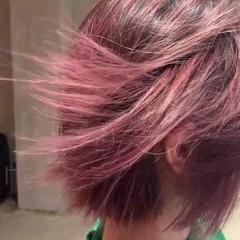 ピンクブラウン ピンク ピンクアッシュ ボブ ヘアスタイルや髪型の写真・画像