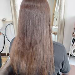 アッシュグレージュ エレガント ミルクティーグレージュ ロング ヘアスタイルや髪型の写真・画像