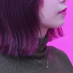 イルミナカラー ピンク ヘアオイル フェミニン ヘアスタイルや髪型の写真・画像