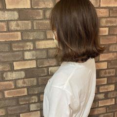 アディクシーカラー 外ハネ ナチュラル 外ハネボブ ヘアスタイルや髪型の写真・画像