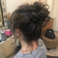 お団子 デート オフィス ヘアアレンジ ヘアスタイルや髪型の写真・画像