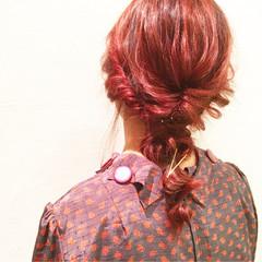ヘアアレンジ ミディアム ナチュラル ハイライト ヘアスタイルや髪型の写真・画像