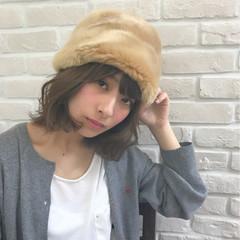 外国人風 ゆるふわ ボブ 大人女子 ヘアスタイルや髪型の写真・画像