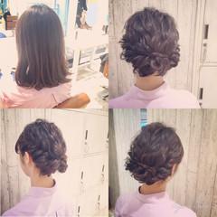 アップスタイル ボブ 和装 パーティ ヘアスタイルや髪型の写真・画像