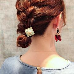 簡単ヘアアレンジ ミディアム ナチュラル ヘアアレンジ ヘアスタイルや髪型の写真・画像