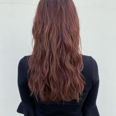 ナチュラル ピンク ハイライト ナチュラルグラデーション ヘアスタイルや髪型の写真・画像