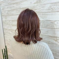 オルチャン ボブ ブリーチ無し ピンクベージュ ヘアスタイルや髪型の写真・画像