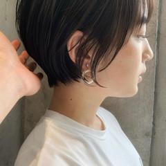 ショートヘア フェミニン ショートカット ミニボブ ヘアスタイルや髪型の写真・画像