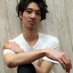 黒髪 ショート ナチュラル メンズ ヘアスタイルや髪型の写真・画像