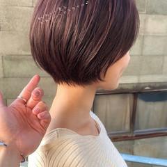 デートヘア ショートボブ フェミニン ショート ヘアスタイルや髪型の写真・画像