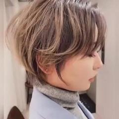ナチュラル ミニボブ ベリーショート ハイトーンカラー ヘアスタイルや髪型の写真・画像