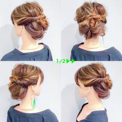 簡単ヘアアレンジ デート 結婚式 上品 ヘアスタイルや髪型の写真・画像