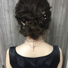 結婚式 ヘアアレンジ 色気 夏 ヘアスタイルや髪型の写真・画像