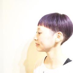 木村カエラ マッシュ ラベンダーピンク ストリート ヘアスタイルや髪型の写真・画像