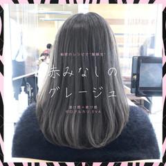 グレージュ 縮毛矯正 髪質改善 前髪 ヘアスタイルや髪型の写真・画像