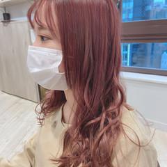 ピンクアッシュ ピンクベージュ フェミニン ラベンダーピンク ヘアスタイルや髪型の写真・画像