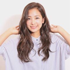 ロング 暗髪 セミロング ブラウン ヘアスタイルや髪型の写真・画像