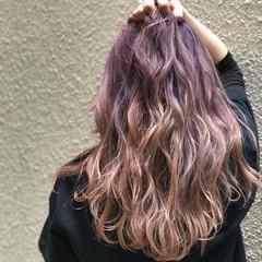 ゆるふわ ロング グラデーションカラー ストリート ヘアスタイルや髪型の写真・画像