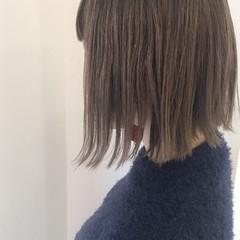 外国人風 ミディアム ボブ ストリート ヘアスタイルや髪型の写真・画像