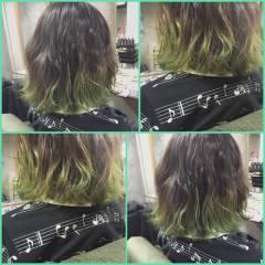 ヘアアレンジ マルサラ グラデーションカラー ミディアム ヘアスタイルや髪型の写真・画像