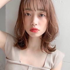 ゆるふわ おフェロ ひし形シルエット モテ髪 ヘアスタイルや髪型の写真・画像