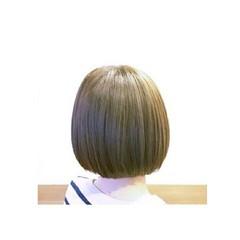 アッシュ ボブ 外国人風 ナチュラル ヘアスタイルや髪型の写真・画像