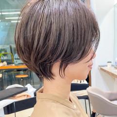 ハンサムショート ショートボブ アンニュイほつれヘア ナチュラル ヘアスタイルや髪型の写真・画像
