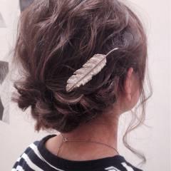 外国人風カラー ルーズ ストリート ヘアアレンジ ヘアスタイルや髪型の写真・画像