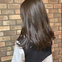 ナチュラル N.オイル シースルーバング セミロング ヘアスタイルや髪型の写真・画像