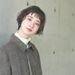 アンニュイ ショート ゆるふわ ナチュラル ヘアスタイルや髪型の写真・画像