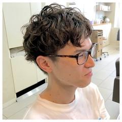 刈り上げ パーマ 坊主 ショート ヘアスタイルや髪型の写真・画像