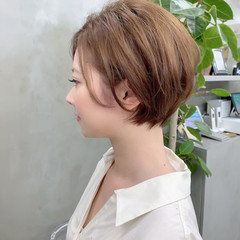 ベリーショート ショートヘア ナチュラル インナーカラー ヘアスタイルや髪型の写真・画像