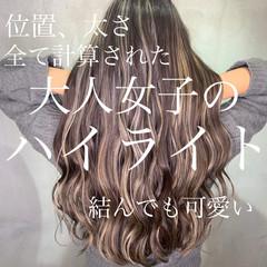 ハイライト 大人ハイライト ホワイトハイライト 3Dハイライト ヘアスタイルや髪型の写真・画像
