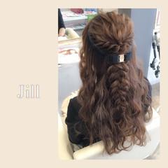 ヘアアレンジ ハーフアップ ロング ショート ヘアスタイルや髪型の写真・画像