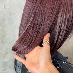 髪質改善 ラベンダーピンク ラベンダーアッシュ ボブ ヘアスタイルや髪型の写真・画像