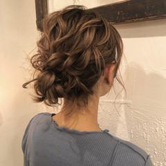 簡単ヘアアレンジ ナチュラル 結婚式アレンジ ロング ヘアスタイルや髪型の写真・画像